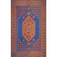 Mad Mats Oriental Turkish Indoor/Outdoor Floor Mat, 4 by 6-Feet, Blue by Mad Mats. $42.92
