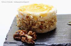 Profumo di cannella: Dischetti di pane con mousse di gorgonzola e grane...