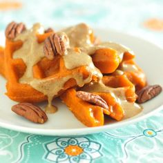 Carrot Juice Waffles | (dairy-, egg-, soy- and gluten-free. and also vegan)