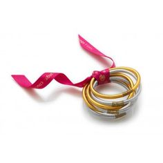 BuDhaGirl All Weather Bangles Silver & Gold Set