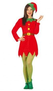 disfraz de elfa cascabeles mujer