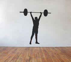 Weightlifting Crossfit Vinyl Wall Decal