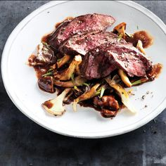 Hanger steak pairs perfectly         with a hearty red wine reduction.