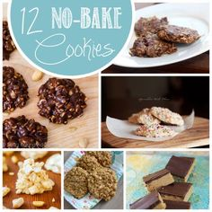 12 No-Bake Cookies. Because who wants to turn the oven on when it's 90 degrees out?