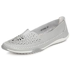 SOCOFY Big Size Butterfly Hollow Out Comfortable Leather Flat Casual Loafers