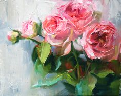 Pampered by Pamela Blaies, Oil, 8 x 10 Acrylic Flowers, Watercolor Flowers, Abstract Flower Art, Hand Drawn Flowers, Beautiful Paintings, Painting Inspiration, Fine Art, Artwork, Roses
