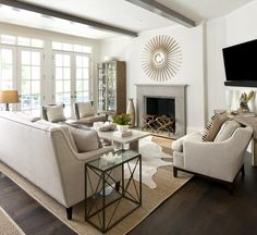 Love the big french doors leading out to the back deck from the living space.