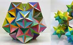 Morton Bradley sculpture By George Hart for the Museum of Mathematics It's amazing what can be made from paper. These two mathematical sculptures by Morton Solid Geometry, Geometric Sculpture, Love Math, Math Art, Geodesic Dome, Arts Ed, National Museum, 3 D, Origami
