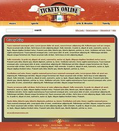 Tickets Online Website Templates by Matrix
