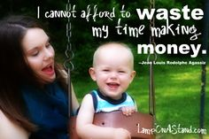 The Wealthy Stay-at-home Mom. Wonderful and beautiful words about the value of motherhood. Love this post!