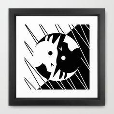 Yin Yang Unicorn Framed Art Print