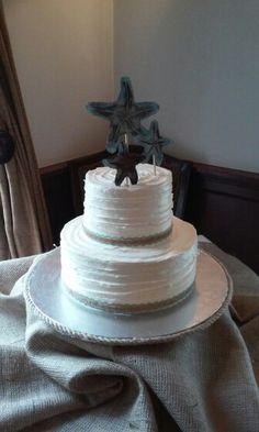 Simple Rustic Beach Wedding Cake
