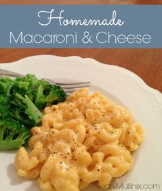 Homemade Macaroni and Cheese - probably my favorite Mac and cheese recipe so far. Easy, quick, and I already had all the ingredients in hand. More mustard, less pepper next time *MCB