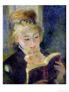 Girl Reading, 1874, Renoir  When it comes to Renoir....my wall doesn't know where to start.  Can we just have a Renoir room?