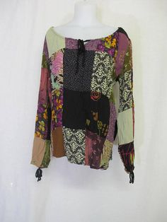 7db5e93e Tunic Blouse Off Shoulder Crochet Rayon Gauze Blouse Hippie Blouse Plus Size  XL