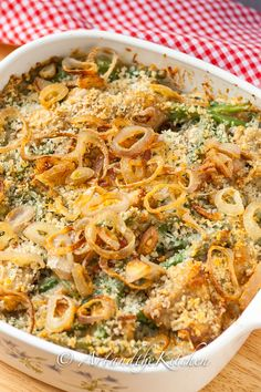 Best Ever Green Bean Casserole, a Thanksgiving favorite from scratch!
