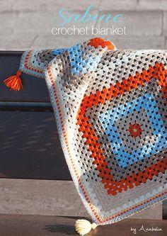 Anabelia diseño artesanal: Sabine manta de bebé, patrón de ganchillo