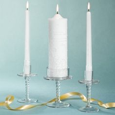 Pearl Wedding Candles