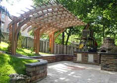 Amazing Modern Pergola Patio Ideas for Minimalist House. Many good homes of classical, modern, and minimalist designs add a modern pergola patio or canopy to beautify the home. In addition to the installa. Gazebo Pergola, Building A Pergola, Small Pergola, Deck With Pergola, Wooden Pergola, Covered Pergola, Pergola Ideas, Building Plans, Patio Ideas