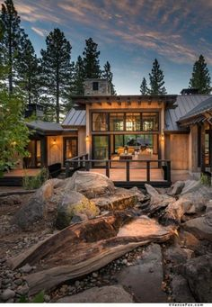 "stunning ideas for beautiful house 2019 2 > Fieltro.Net - Tata Santos - stunning ideas for beautiful house 2019 2 > Fieltro.Net""> 41 Stunning Ideas for Beautiful House 2019 > Fieltro. Mountain Home Exterior, Modern Mountain Home, Mountain Homes, Mountain Home Plans, Mountain Living, Rustic Home Design, Modern House Design, Modern Wood House, Modern Lake House"