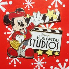 Disney Pin MICKEY Hollywood Studios Director 3D Slider