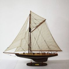 Defender Model Boat, $125, now featured on Fab.