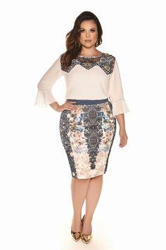 Curvy Inverno 2017 - Fascinius Moda Evangélica Elegant Dresses, Vintage Dresses, Nice Dresses, Short Dresses, Looks Plus Size, Plus Size Model, Plus Size Dresses, Plus Size Outfits, Plus Size Fashion For Women