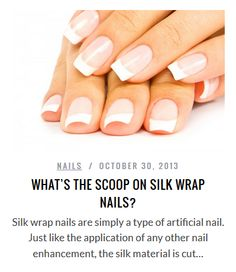 What S The Scoop On Silk Wrap Nails Nail