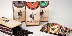 Haute+Hawaiian+Packaging+-+The+Royal+Kona+Coffee+Packaging+Highlights+the+Coffee+Bean's+Origins+(GALLERY)