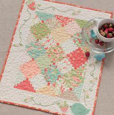 Why Not Sew?: Strawberry Fields Bird Mini Quilt from Sweet Tweets ~ Sneak Peek