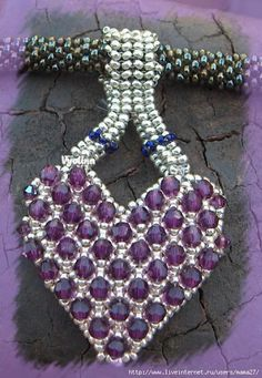 Ruby Heart Pendant Tutorial - free  also lots of other free picture tutorials