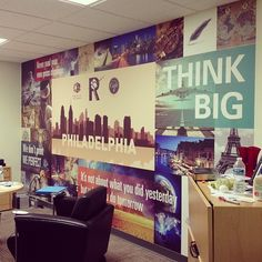 Custom wall graphic at the Replica office #design