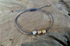 Armbänder - Armband Macramé mit Herz in rosegold gold silber - ein Designerstück von saniLou bei DaWanda