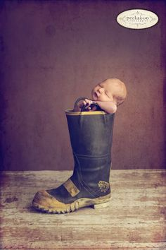 Do they have any idea how many chemicals get on those boots? Cute picture anyway.