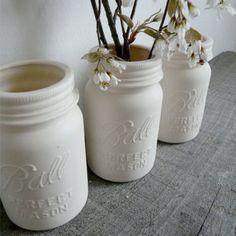 Porcelain Mason Jar Vase.