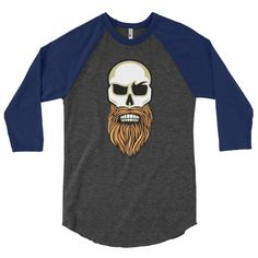 Bearded Warriors 3/4 sleeve raglan shirt
