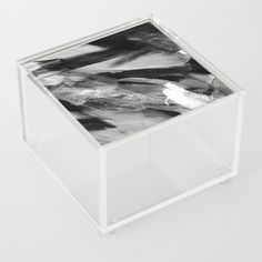 Abstract Artwork Greyscale #1 | Different abstract artworks were painted to create interesting structures. #Painting #Decoration #Unique #Design #Abstract #Painting #Abstraction #Brush #Brushstroke #Art #Malerei #Structure #Greyscale #Black-and-white #Society6 #Acrylicbox