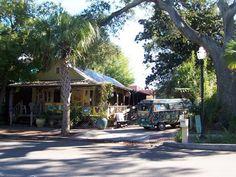 Hippy van at the blues bar in Fernandina Beach, FL