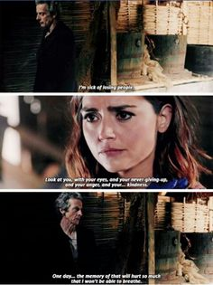 Given what happens to Clara in the end this and any scene related to his apprehension of what can happen to her, makes it even more heartbreaking now to watch.