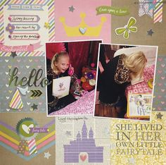 One Scrappy Soul: Hello Princess Layout