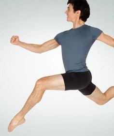 018e929d1d1fb Men's ProTech Dance Short. Elastic WaistSpandexBalletBody WrappersDance  ShortsBoysFitnessMenDance Wear
