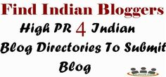 High PR 4 Indian Blog Directories To Submit Blog