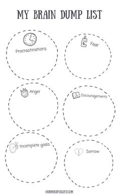 6 Brain Dump Triggers + Free Printable Brain Dump Template for 2020 – Tara Harris – art therapy activities Brain Dump Bullet Journal, How To Bullet Journal, Bullet Journal Project Planning, Bullet Journal Anxiety, Bullet Journal Printables, Relation D Aide, Detox Challenge, Mental Training, Detox Tips