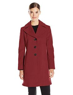 New Trending Outerwear: Larry Levine Womens Single Breasted Notch Collar Wool Coat, Firebrick, 6. Larry Levine Women's Single Breasted Notch Collar Wool Coat, Firebrick, 6   Special Offer: $150.00      411 Reviews Slim fitting single breasted notch collar walkerThree-button walker coat featuring large notch collar and flattering seamingFully linedCenter back length: 36″