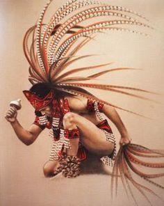 guerrero indio   dibujo de cuatro guerreros aztecas con espectaculares atuendos - L@MM ...