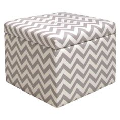 Chevron Storage Ottoman (Gray) (Target) (I really like this color combination and the chevron pattern, but would prefer the ottoman to be round instead of square.)