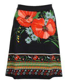 Look at this #zulilyfind! Black  Red Elysee Skirt by Louie et Lucie #zulilyfinds