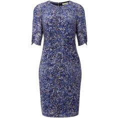 Whistles Multi petal print dress (11.645 RUB) ❤ liked on Polyvore featuring dresses, kate middleton, robes, women, blue pattern dress, silk shift dress, silk print dress, shift dress and pattern dress