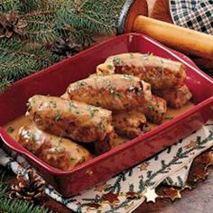 Traditional German Beef Rouladen usually includes pickles along with the bacon and onions, and you can add a few thin slices of dill pickle when you roll these up!