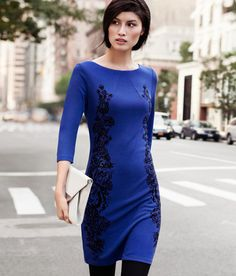love this beaut Bright Blue Dresses, Blue Chiffon Dresses, Blue Dress With Sleeves, Dyt Type 4 Clothes, New Years Outfit, Most Beautiful Dresses, Mommy Style, Dress First, Autumn Fashion